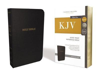 Image for KJV, Reference Bible, Giant Print, Bonded Leather, Black, Red Letter Edition, Comfort Print from emkaSi