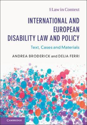 Image for International and European Disability Law and Policy - Text, Cases and Materials from emkaSi