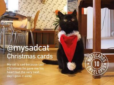 Image for My Sad Cat Christmas Cards from emkaSi