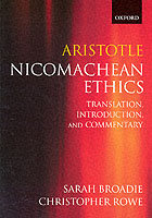 Image for Aristotle: Nicomachean Ethics: Translation, Introduction, Commentary from emkaSi