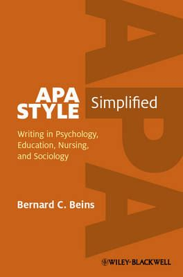 Image for APA Style Simplified: Writing in Psychology, Education, Nursing, and Sociology from emkaSi