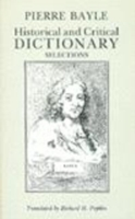 Image for Historical and Critical Dictionary: Selections from emkaSi