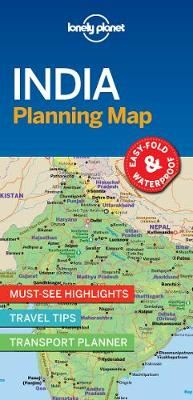 Image for Lonely Planet India Planning Map from emkaSi