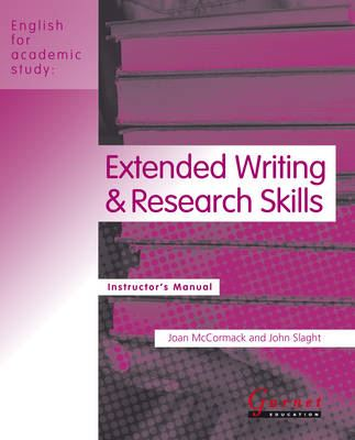 Image for Extended Writing and Research Skills: Instructor's Manual from emkaSi